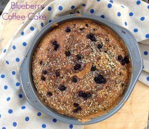 Blueberry Coffee Cake #vegan from Super Seeds cookbook by Kim Lutz