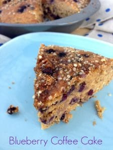 Blueberry Coffee Cake from Super Seeds by Kim Lutz #vegan