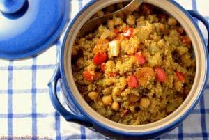 Warmly Spiced Quinoa Chickpea Stew #vegan #glutenfree #soyfree by Dreena Burton