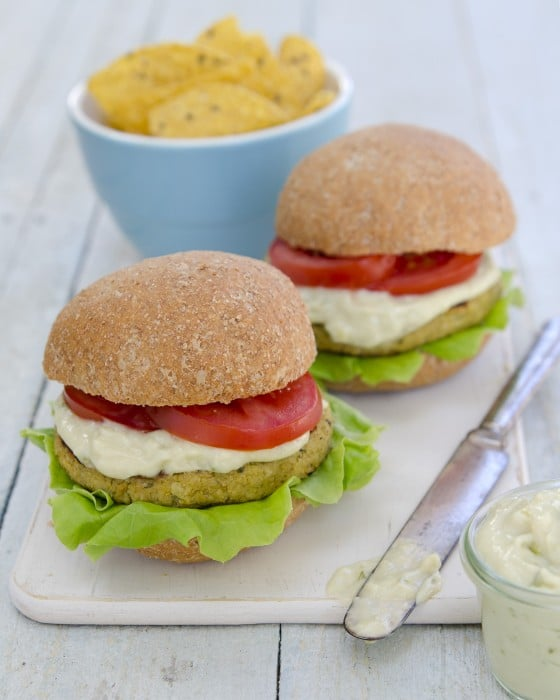 "Artichoke Sunflower Burgers from ""Plant-Powered Families"" cookbook by Dreena Burton"