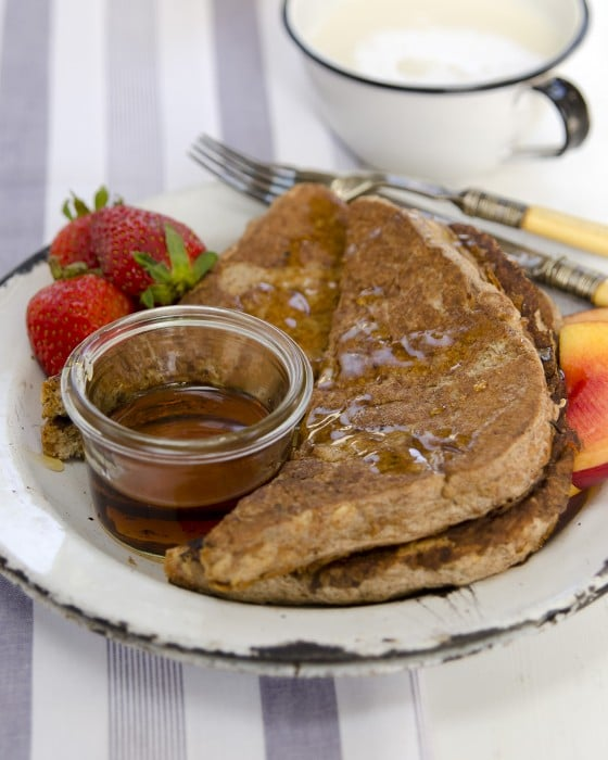 """Cinnamon French Toast from """"Plant-Powered Families"""" cookbook by Dreena Burton"""