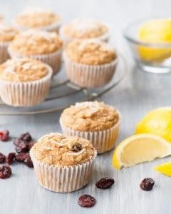 "Lemon Cranberry Coconut Muffins from bonus ""Plant-Powered Families"" ebook by Dreena Burton"