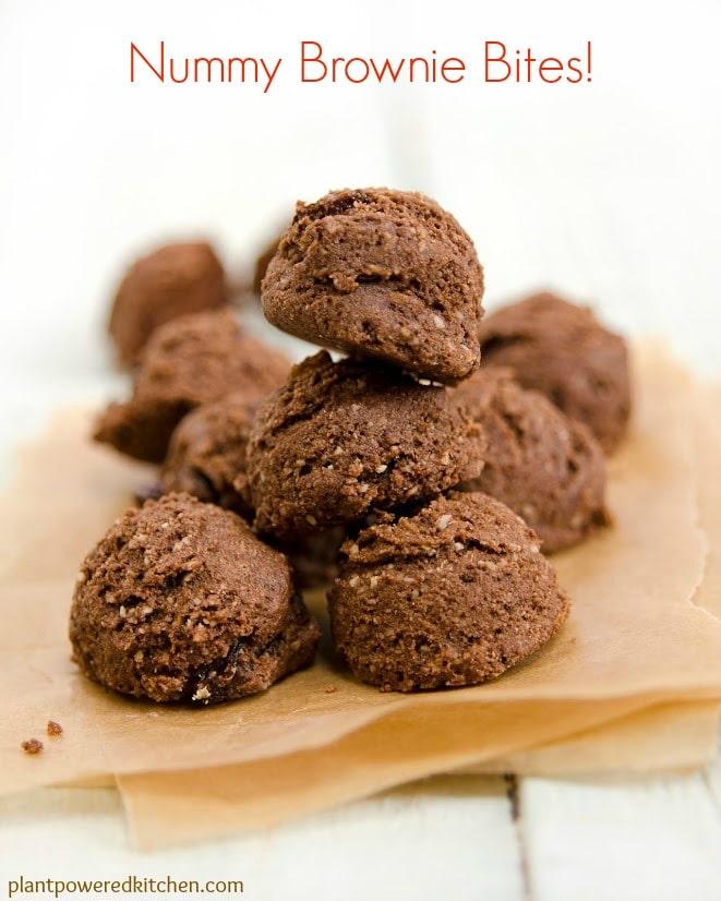 Nummy Brownie Bites by Dreena Burton #vegan #glutenfree