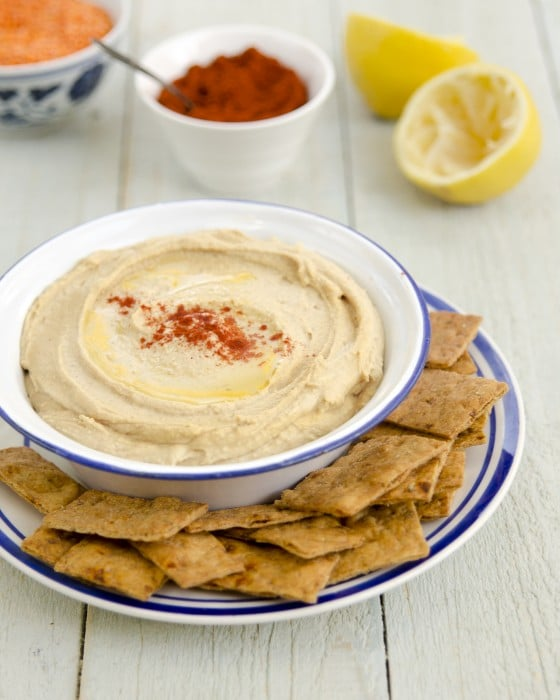 "Red Lentil Hummus from ""Plant-Powered Families"" cookbook by Dreena Burton"