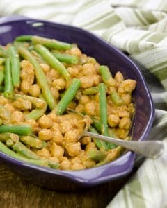 """Saucy BBQ Chickpeas and Green Beans from """"Plant-Powered Families"""""""