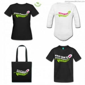 Plant-Powered shirts, totes, mugs, and aprons for the whole family! www.plantpoweredkitchen.com #vegan