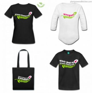 "Plant-Powered t-shirts, ""weegan"" onesies, and more!"