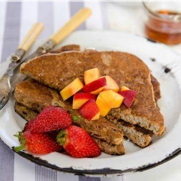 Cinnamon French Toast by Dreena Burton www.plantpoweredkitchen.com #soyfree #vegan with #nutfree option
