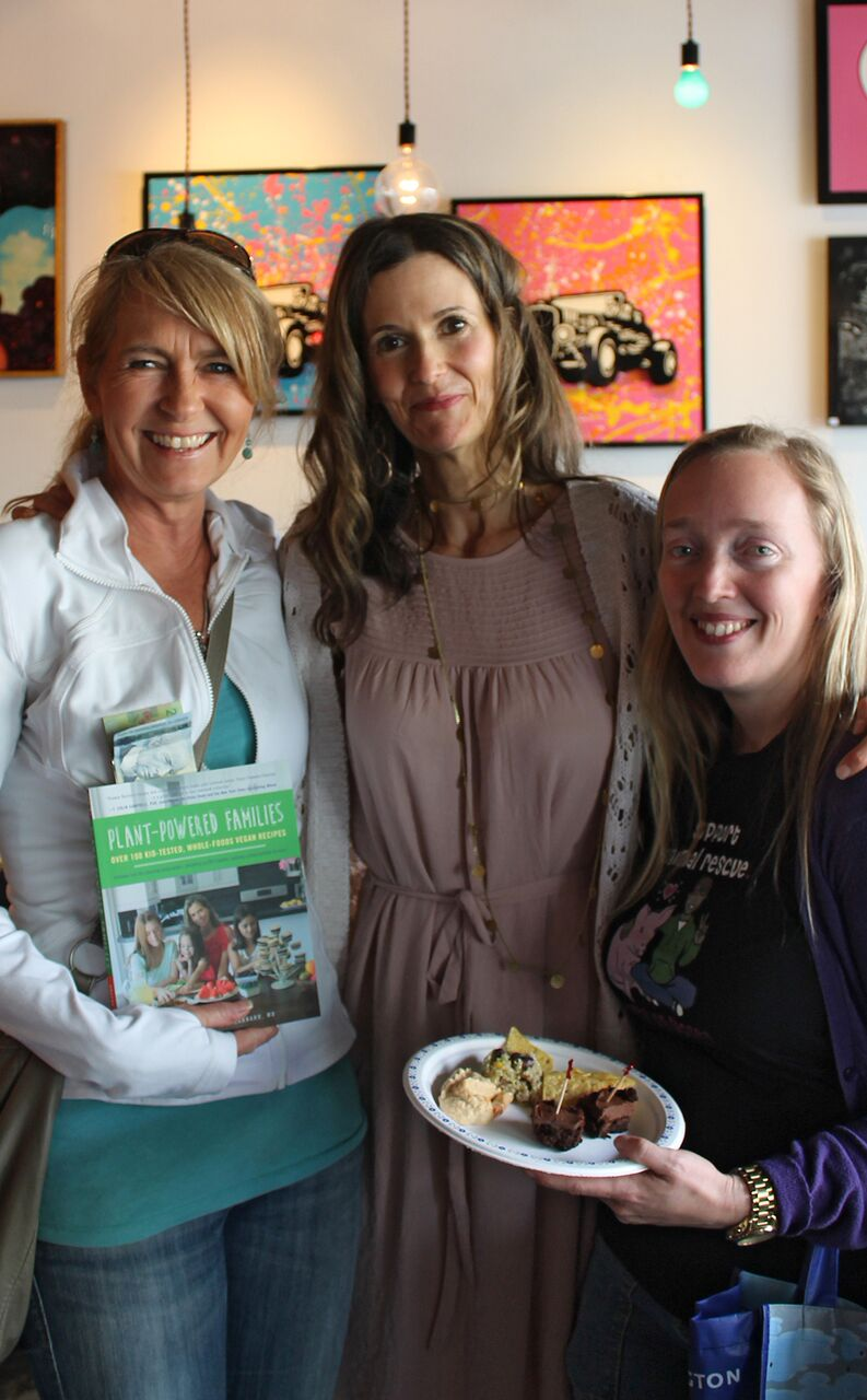Plant-Powered Families book signing www.plantpoweredkitchen.com