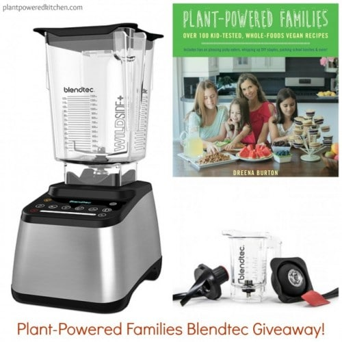 Plant-Powered Families Cookbook Release Blendtec Giveaway! www.plantpoweredkitchen.com