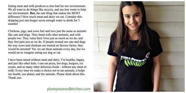 Why We Shouldn't Eat Meat Or Dairy - from a 10 year old www.plantpoweredkitchen.com