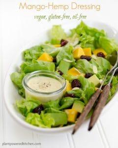 Mango-Hemp Dressing by Dreena Burton #vegan #wholefoods #plantbased #glutenfree #oilfree #dairyfree www.plantpoweredkitchen.com