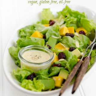 Mango-Hemp Dressing (vegan, gluten-free, oil-free)