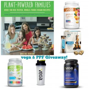 Giveaway of VEGA bundle and Plant-Powered Families cookbook www.plantpoweredkitchen.com