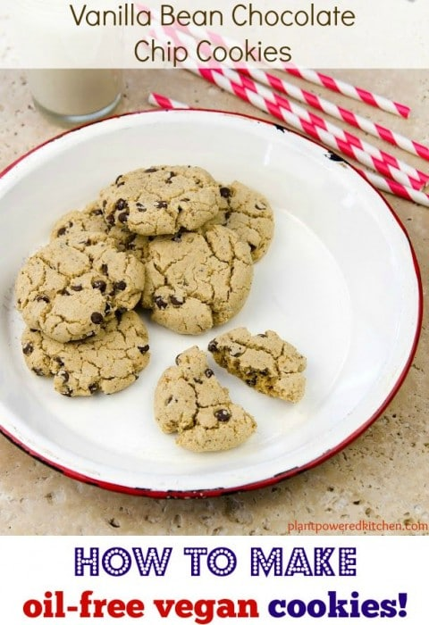 5 TIPS to make #oilfree #vegan cookies - plus recipe! www.plantpoweredkitchen.com
