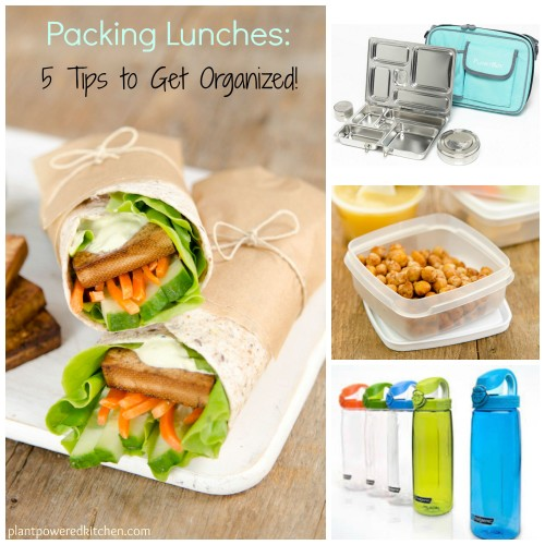 5 Tips to Get Organized for Packing Healthy School Lunches #plantbased #lunches #backtoschool #healthy #kids #vegan www.plantpoweredkitchen.com