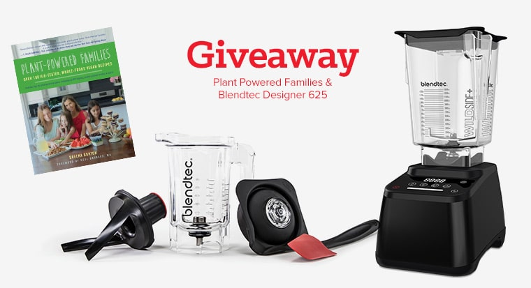 Double giveaway! Blendtec Designer 625 plus Twister Jar and copy of Plant-Powered Families cookbook! #blendtec #backtoschool #plantbased #vegan #healthy #plantpoweredfamilies