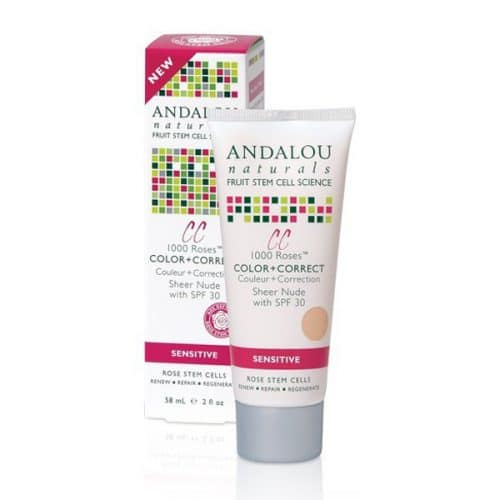 Andalou 1000 roses colour + correct cream with SPF 30