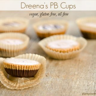 Dreena's Vegan Peanut Butter Cups (vegan, gluten-free, oil-free)