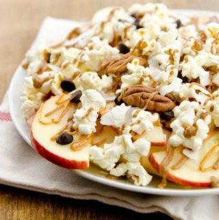 Apple Nachos Supreme! #vegan #dairyfree #healthy #snacks #dessert #wfpb #glutenfree #oilfree www.plantpoweredkitchen.com