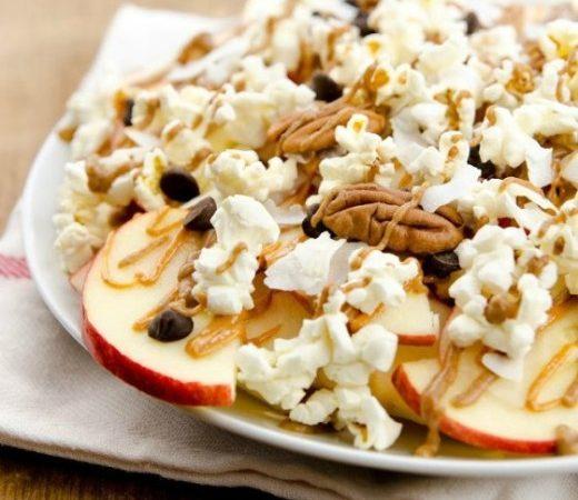 Apple Nachos Supreme! #vegan #dairyfree #healthy #snacks #dessert #wfpb #glutenfree #oilfree www.plantpoweredkitchen.com