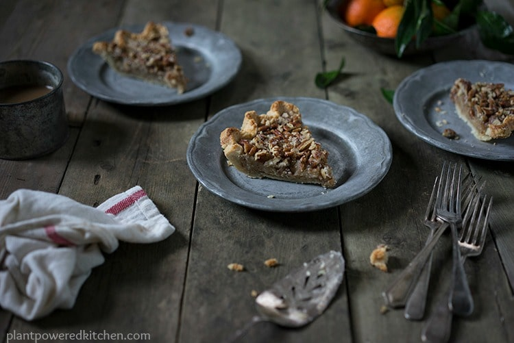 "Dreena's Pecan Pie (from ""Let Them Eat Vegan"") #vegan #dairyfree #holidays #pies #plantbased #glutenfree"