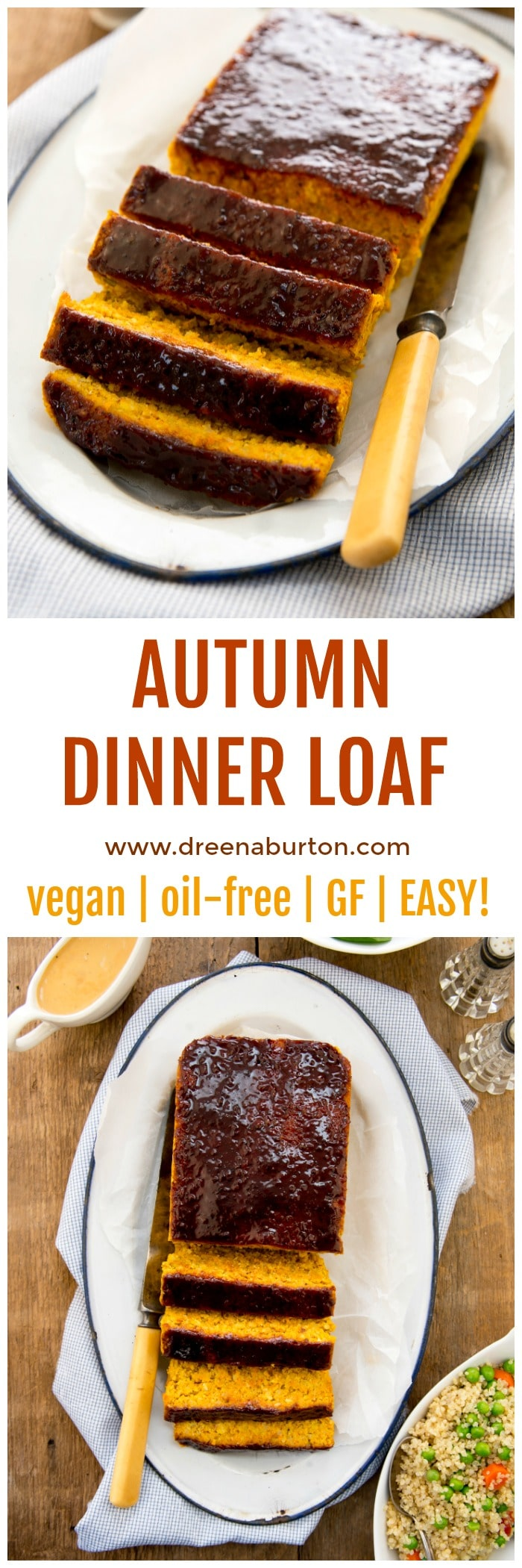 EASY and DELICIOUS VEGAN Meatloaf: Autumn Dinner Loaf | vegan dinner recipes | vegan meat substitutes | vegan recipe ideas | how to make a vegan meatloaf | vegan recipe ideas | meatloaf recipe vegan | homemade vegan recipes || Plant Powered Kitchen #vegandinner