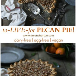 Vegan Pecan Pie (to LIVE for!)