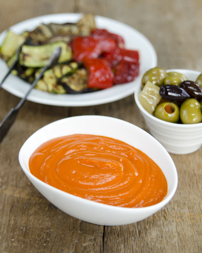 Creamy Roasted Red Pepper Dip from Plant-Powered Families ebook