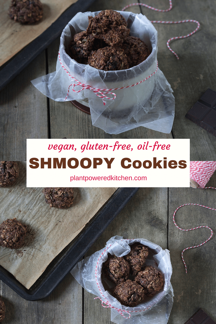 SHMOOPY COOKIES! Readers love these Seinfeld-inspired cookies that are vegan, gluten-free, oil-free and with a nut-free option! plantpoweredktichen.com