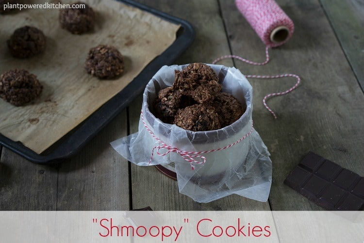 """Shmoopy"" Cookies #vegan #glutenfree #wfpb #oilfree #dairyfree #cookies www.plantpoweredkitchen.com"