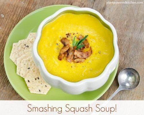 butternut squash soup | healthy soup recipes | dairy free soup recipes | vegan soup recipes | oil free soup recipes | homemade soup recipes | vegan fall recipes | vegan squash recipes || Plant Powered Kitchen