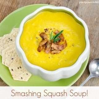 Smashing Squash Soup from Plant-Powered Families by Dreena Burton #vegan #glutenfree #oilfree #soup #squash #blender #recipe #wfpb