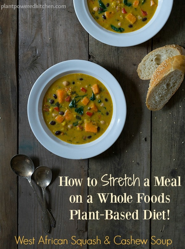 How to Stretch A Meal on a Whole Foods Plant-Based Diet with Happy Planet Soups #vegan #glutenfree #plantbased #soup www.plantpoweredkitchen.com