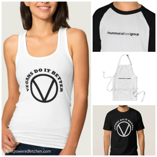 NEW! Vegan T-shirts and other goodies! #hummus #vegan #clothing #tshirt #plantbased www.plantpoweredkitchen.com