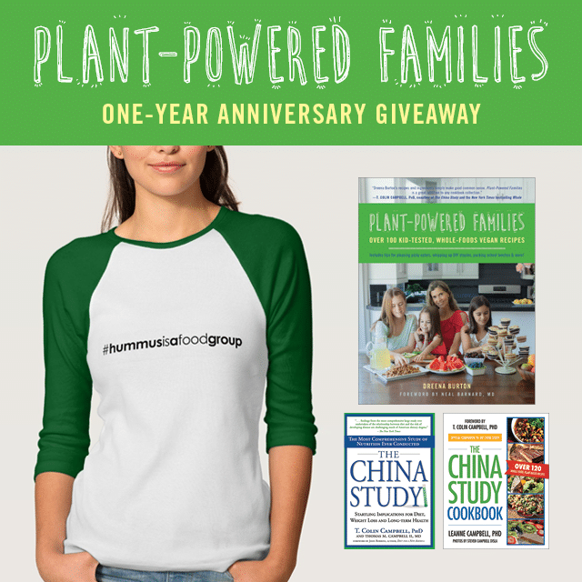 Anniversary giveaway - Plant-Powered Families! #cookbook #giveaway #win #wfpb #vegan #thechinastudy #plantbased #oilfree #healthy #kids