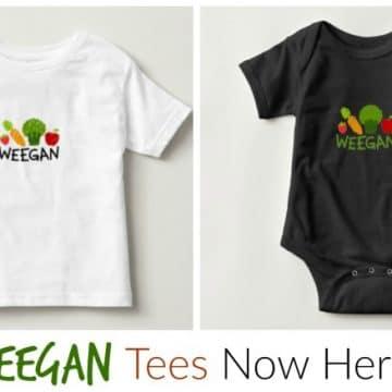 T-shirts for your vegan kids: Weegans! #vegan #clothing #tshirts #kids #plantbased www.plantpoweredkitchen.com