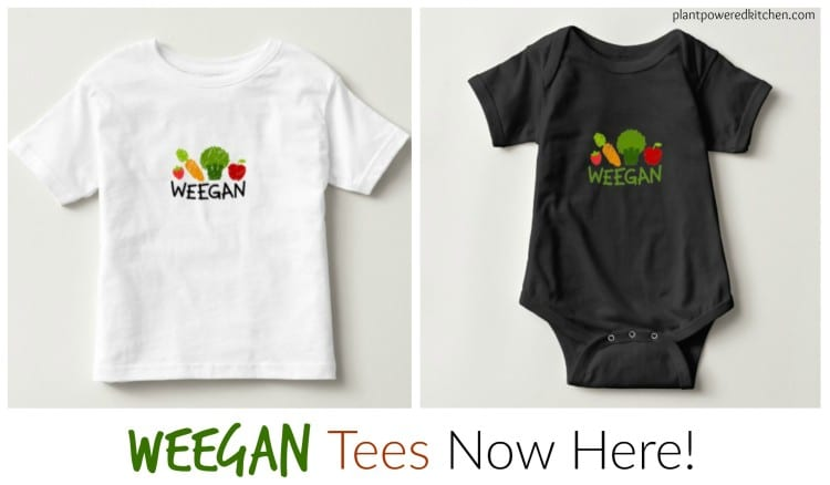 T-shirts for your vegan kids: Weegans! #vegan #clothing #tshirts #kids #plantbased www.plantpoweredkitchen.com