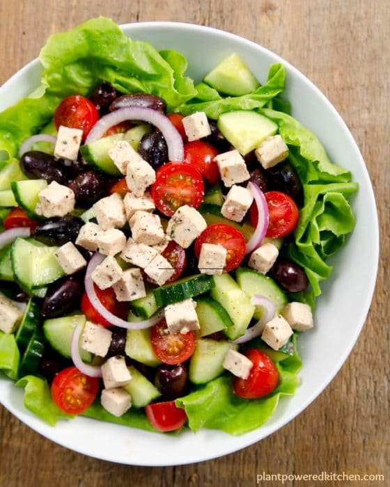 FABULOUS tasting Vegan Feta! from #plantpoweredfamilies cookbook by Dreena Burton recipe is #vegan #dairyfree #oilfree #glutenfree #nutfree