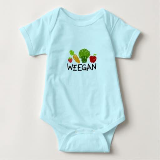 """""""Weegan"""" onesie"""