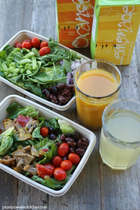 Panago Vegan Salads and Organic Juices