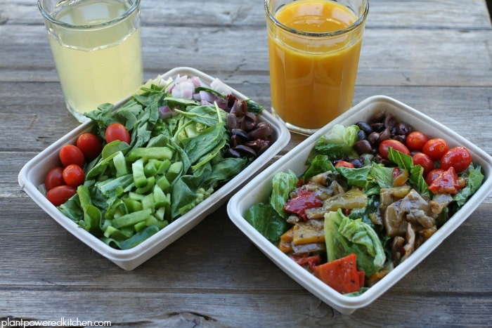 Panago salads and organic juices - enter plantpoweredkitchen.com giveaway #vegan