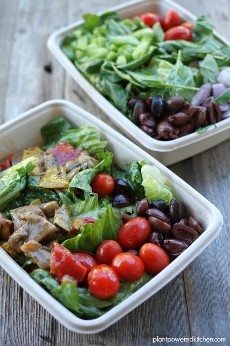 Panago Vegan Salads plantpoweredkitchen.com