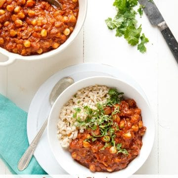 Stewed Chickpeas in the Instant Pot (stovetop method also included) #vegan plantpoweredkitchen.com