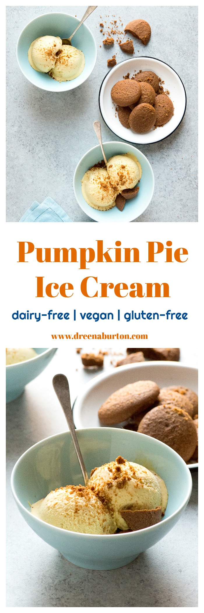 Pumpkin Pie Ice Cream (vegan, gluten-free, oil-free) | vegan pumpkin recipes | vegan dessert recipes | vegan fall recipes | fall inspired vegan recipes | homemade ice cream recipes | vegan ice cream recipes | dairy free ice cream recipes | dairy free dessert recipes | gluten free ice cream recipes | gluten free dessert recipes || Plant Powered Kitchen