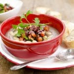Greek Lentil Soup with Tomato Olive Gremolata #vegan plantpoweredkitchen.com