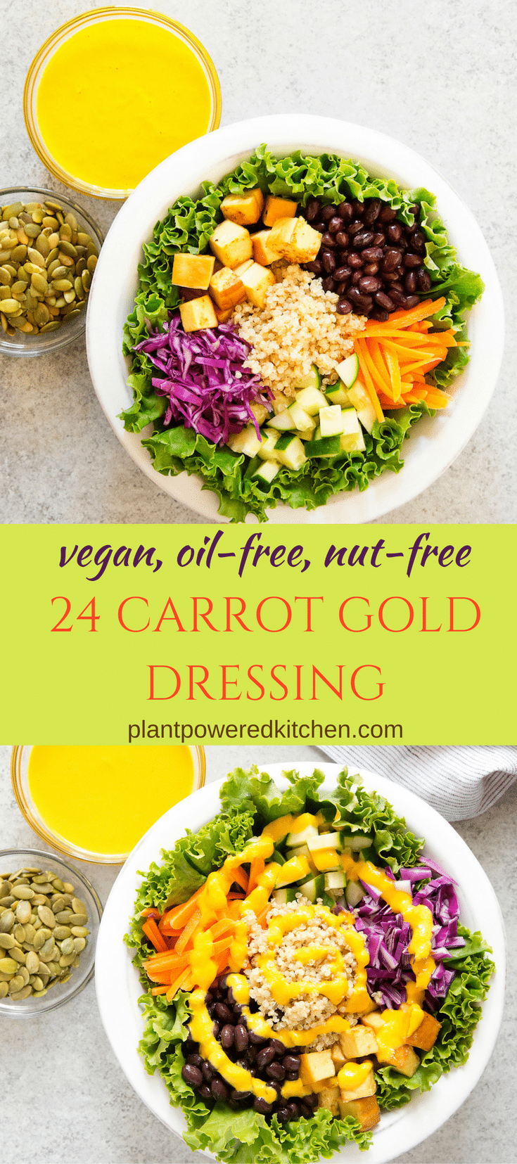 24 CARROT GOLD DRESSING! vegan, oil-free, gluten-free, and nut-free plantpoweredkitchen.com