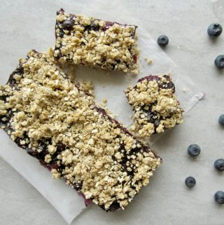 Fresh Blueberry Squares (vegan, gluten-free, nut-free, oil-free)