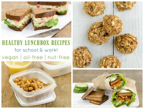 RECIPES & TIPS for Vegan School & Work Lunches! #vegan #lunch #lunchbox #healthy #lunches #school #nutfree #allergenfriendly #oilfree #plantbased #recipes