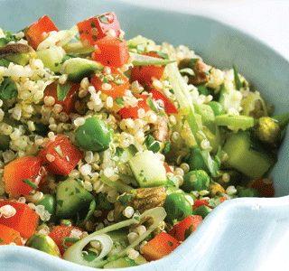Quinoa Spring Salad (vegan, oil-free, gluten-free, nut-free, soy-free)